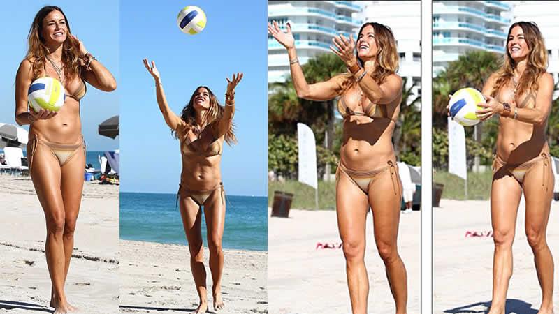 Kelly Bensimon Shows off Bikini Body in Miami Beach