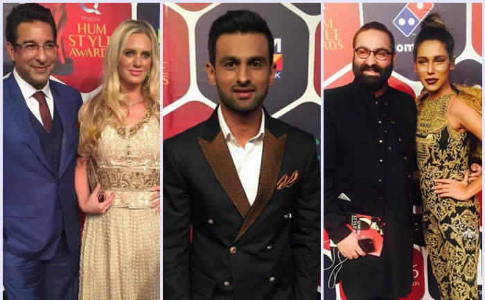 Celebrities at Red Carpet of Hum Style Awards 2016 PART 1